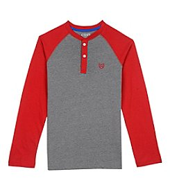 Chaps® Boys' Boys 8-20 Long Sleeve Block Henley