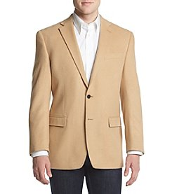 Lauren Ralph Lauren Men's Big & Tall Camel Hair Solid Sport Coat