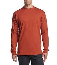 Ruff Hewn Workwear Men's Long Sleeve Jersey Crew Shirts