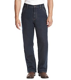 Ruff Hewn Workwear Men's Dark Vintage Wash Denim Jeans