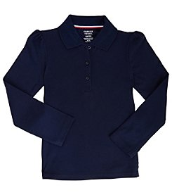 French Toast® Girls' 4-20 Long Sleeve Stretch Pique Polo