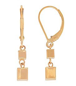 Fine Jewelry 14K Yellow Gold Polished Dice Dangle Earrings with Lever Back