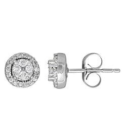 10K White Gold 0.25 Ct. T.W. Diamond Stud Earrings