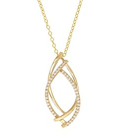 Fine Jewelry 10K Yellow Gold 0.20ct Simplicity Diamond Pendant; 18