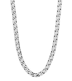 Stainless Steel Polished Swirl Chain Link Necklace