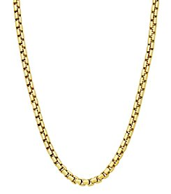 10K Yellow Gold Polished Air Solid Round Box Chain