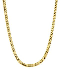 10K Yellow Gold Polished Diamond Cut Hollow Franco Chain
