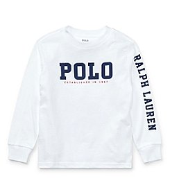 Polo Ralph Lauren® Boys' 2T-20 Long Sleeve Graphic Tee