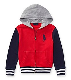 Polo Ralph Lauren® Boys' 2T-20 Full Zip Knit Top
