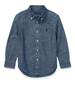 Polo Ralph Lauren® Boys' 2T-20 Long Sleeve Chambray Button Down Shirt