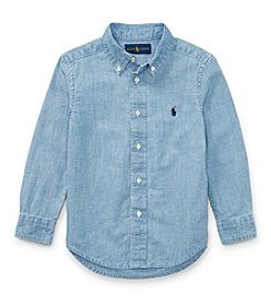 Polo Ralph Lauren® Boys' 2T-20 Long Sleeve Chambray Top