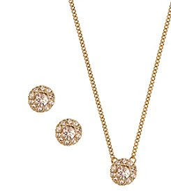 Givenchy® Silk Pave Necklace and Earrings Set