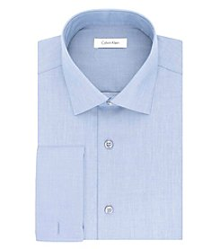 Calvin Klein Men's Steel Non Iron Stretch Slim Fit Spread Collar Solid Dress Shirt