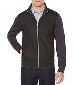Perry Ellis® Mixed Media Full Zip Jacket