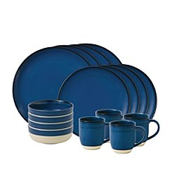 ED Ellen DeGeneres Crafted by Royal Doulton® Cobalt Blue Brushed Glaze 16 Piece Set