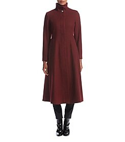 Gallery Long Wool Pleated Coat