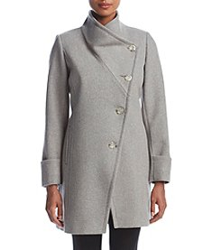 Trina Turk Asymmetrical Button Coat