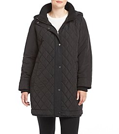 Gallery Plus Size Quilted Hood Coat