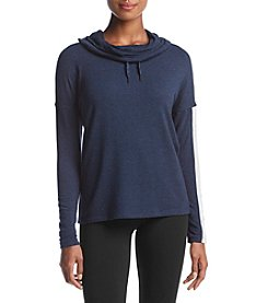 Calvin Klein Performance Color Blocked Pullover With Cowl Neck