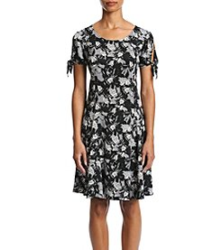 Studio Works® Petites' Printed Tie Sleeve Dress