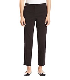 Studio Works Petites' Double Snap Thin Waistband Pants