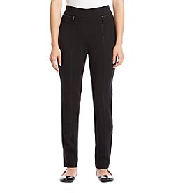 Studio Works Petites' Pull On Ponte Zip Pocket Pants