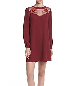 Be Bop® Embroidered Top Dress