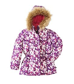 32 Degrees Girls' 2T-6X Floral Puffer Coat