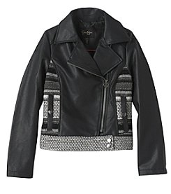 Jessica Simpson Girls' 7-16 Faux Leather Moto Jacket