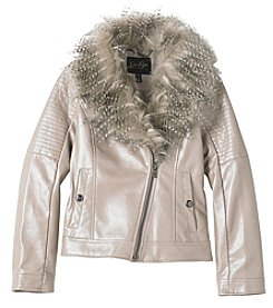 Jessica Simpson Girls' 7-16 Faux Leather Jacket