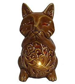 Living Quarters Brown LED Fox Figurine