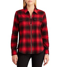 Chaps Plaid Zip Shirt
