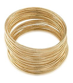 ABS Allen Schwartz Goldtone 50 Piece Bangle Bracelet Set