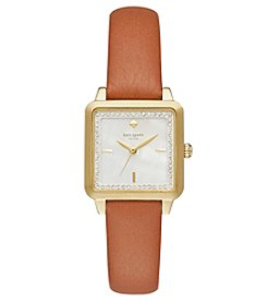 kate spade new york® Goldtone Washington Square Watch