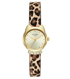 kate spade new york Mini Metro Leopard Strap Watch