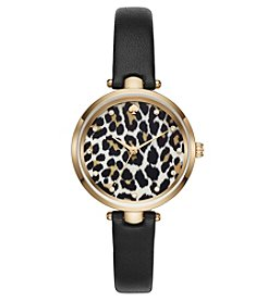 kate spade new york® Leopard Print Holland Watch