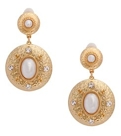 Erica Lyons® Faux Pearl Clip Earrings
