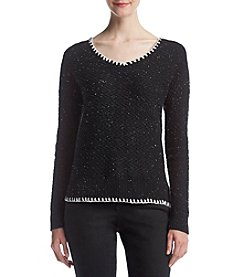 Ruff Hewn Chevron Texture Speckled Pattern Sweater
