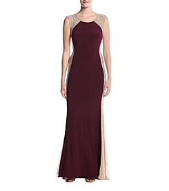 Xscape Beaded Sides Dress