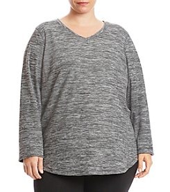 Exertek Plus Size Micro Fleece Print Top