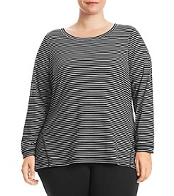 Exertek Plus Size Vertical Stripe Tee