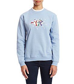 Morning Sun Petites' Bundled Birds Fleece Sweatshirt