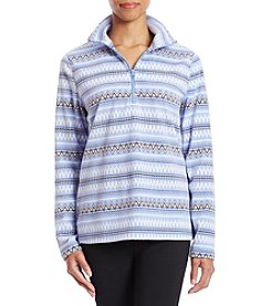 Exertek Petites' Micro Fleece Quarter Zip Sweater