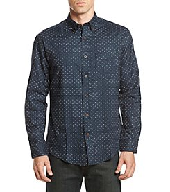 John Bartlett Consensus Men's Polka Dot Flannel Button Down