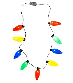 Cheer Holiday Lights Necklace
