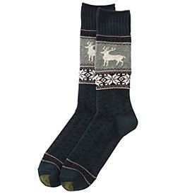 GOLD TOE Men's Nordic Deer Dress Socks