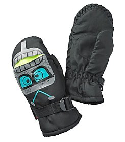 Statements Boys' 2T-4T Teal Monster Face 3D Mittens