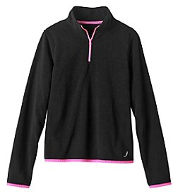 Exertek Girls' 4-16 Long Sleeve Microfleece 1/4 Zip Jacket