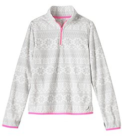 Exertek Girls' 4-16 Long Sleeve Microfleece Print 1/4 Zip Jacket