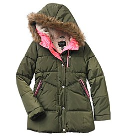 Jessica Simpson Girls' 7-16 Green Parka Jacket